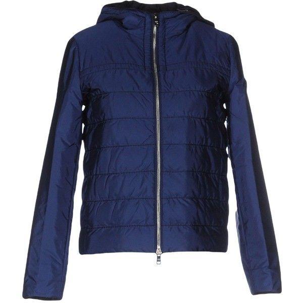 Prada Jacket (48.445 RUB) ❤ liked on Polyvore featuring outerwear, jackets, blue, blue jackets, pocket jacket, logo jackets, multi pocket jacket and zipper jacket  Diese und weitere Taschen auf www.designertaschen-shops.de entdecken