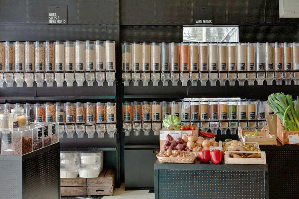 Por Qué Volver A Comprar A Granel Organic 360 Pleneat 100 Organic Food Diseño Interior De Tienda Diseño De Supermercado Estanterias Para Tiendas