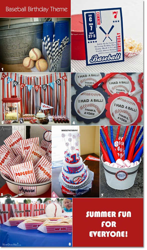 Hit a Home Run Ideas for a Baseball Themed Birthday Baseball