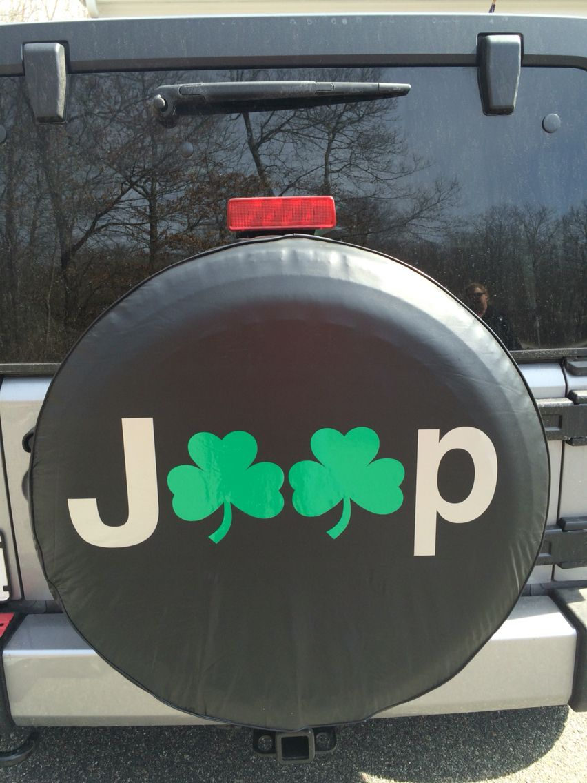 Tire Cover Jeep Shamrock Jeep Tire Cover Christmas Bulbs