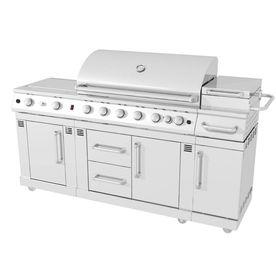 Master Forge 6 Burner Outdoor Kitchen Lowes 1598 Outdoor Kitchen Outdoor Kitchen Countertops Outdoor Kitchen Appliances