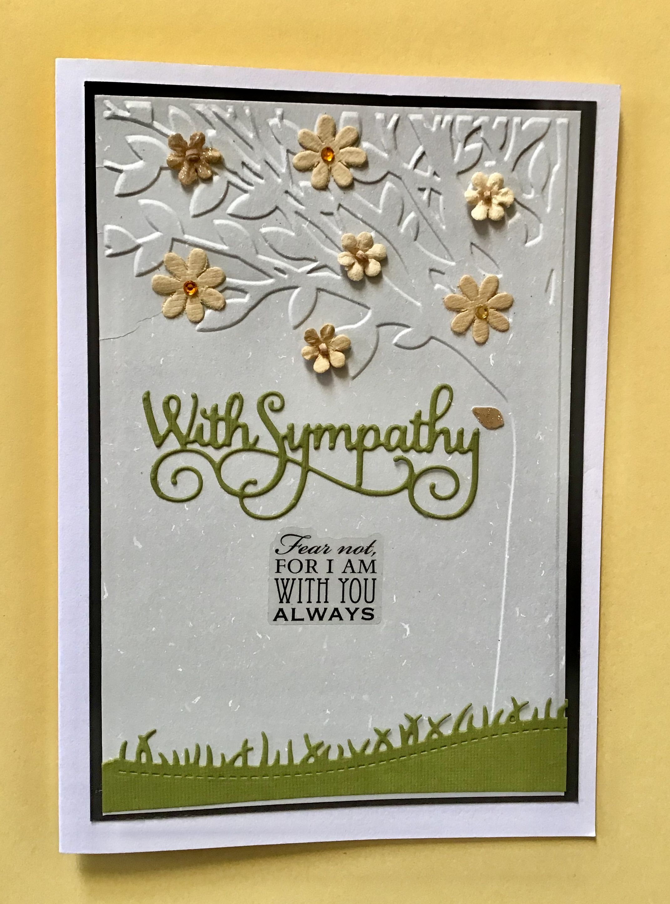 Handmade Diy Sympathy Card Embossed Cards Sympathy Cards Cards