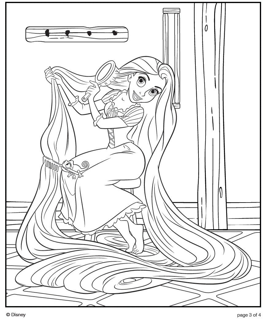 Barbie Rapunzel Ausmalbilder : Image Detail For Disney Tangled Rapunzel Doll Coloring Sheets