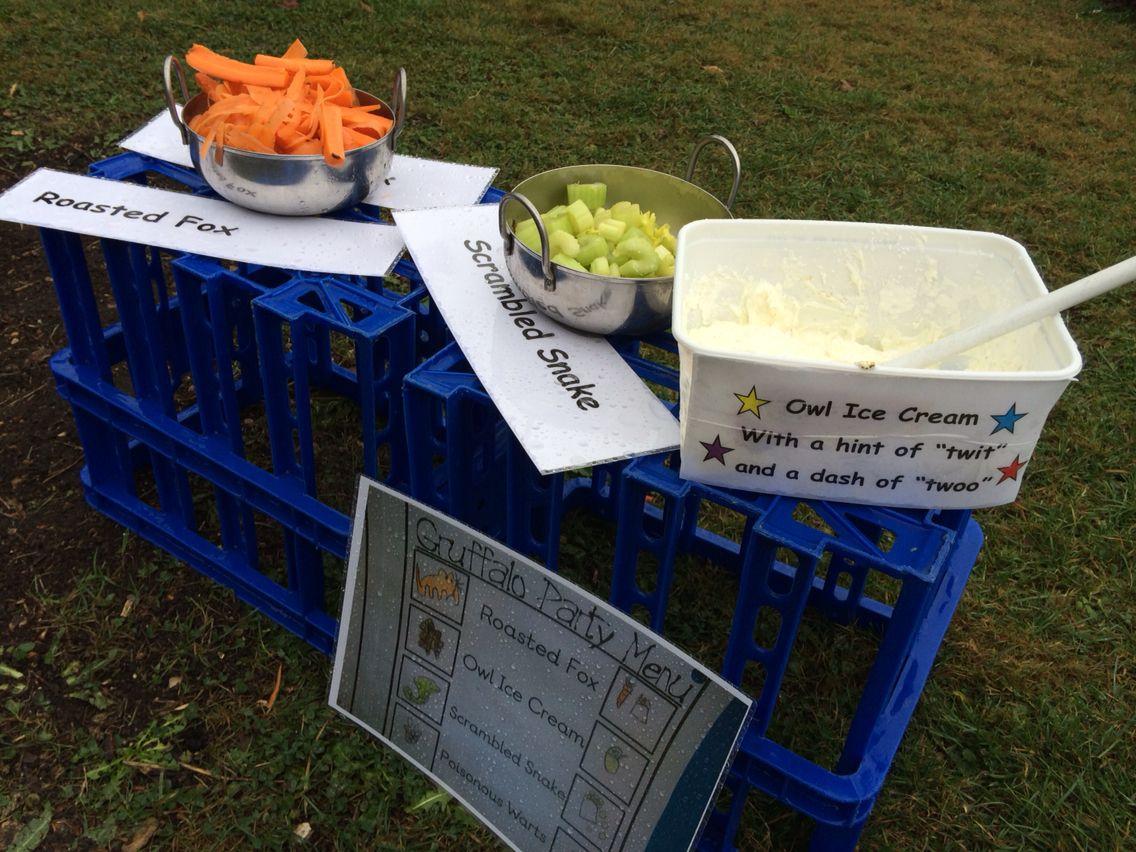Mud Kitchen Ideas Eyfs.Gruffalo Menu Mud Kitchen Ideas Outdoor Play Early Years