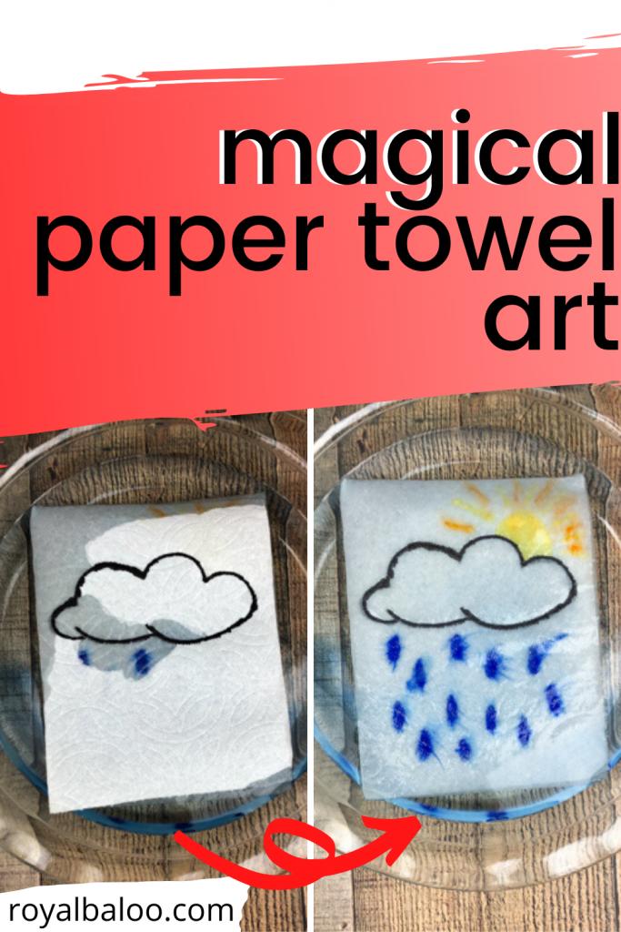 Magic Paper Towel Art