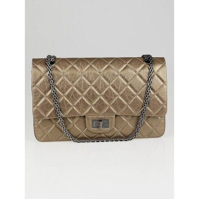 ac84851c046132 Chanel Dark Gold 2.55 Reissue Quilted Classic Calfskin 227 Jumbo Flap Bag