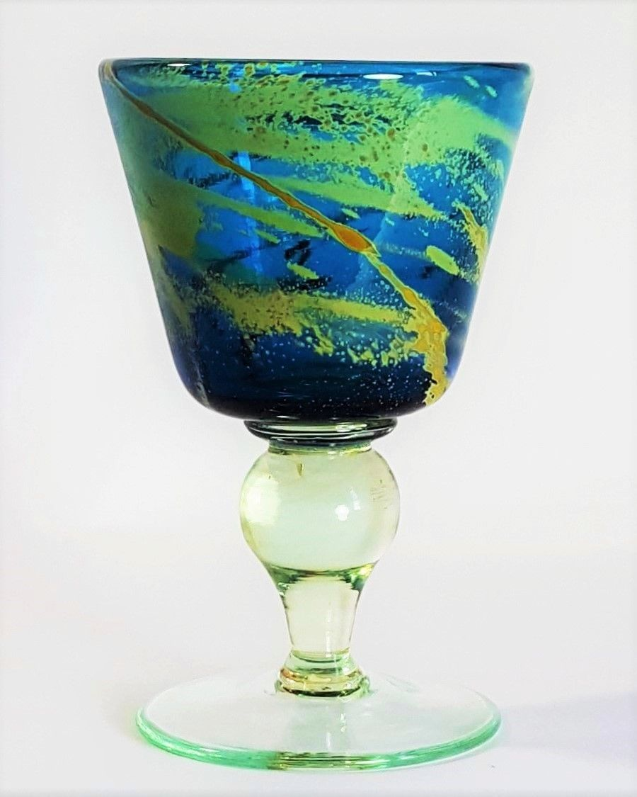 Vintage MDINA superb Art Glass blue and