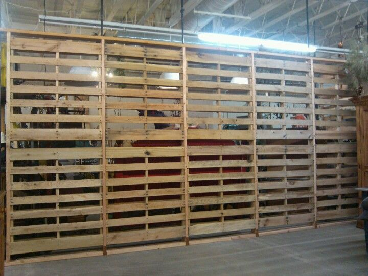 Pallet wall built at sweet salvage occasional market Phoenix Arizona ...