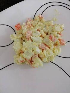 Ensalada de papa con zanahoria y huevo