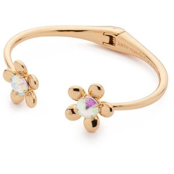 ac8eb2d22c8ed Kate Spade New York Clear Gold-Tone Sunset Blooms Cuff Bracelet ($88 ...