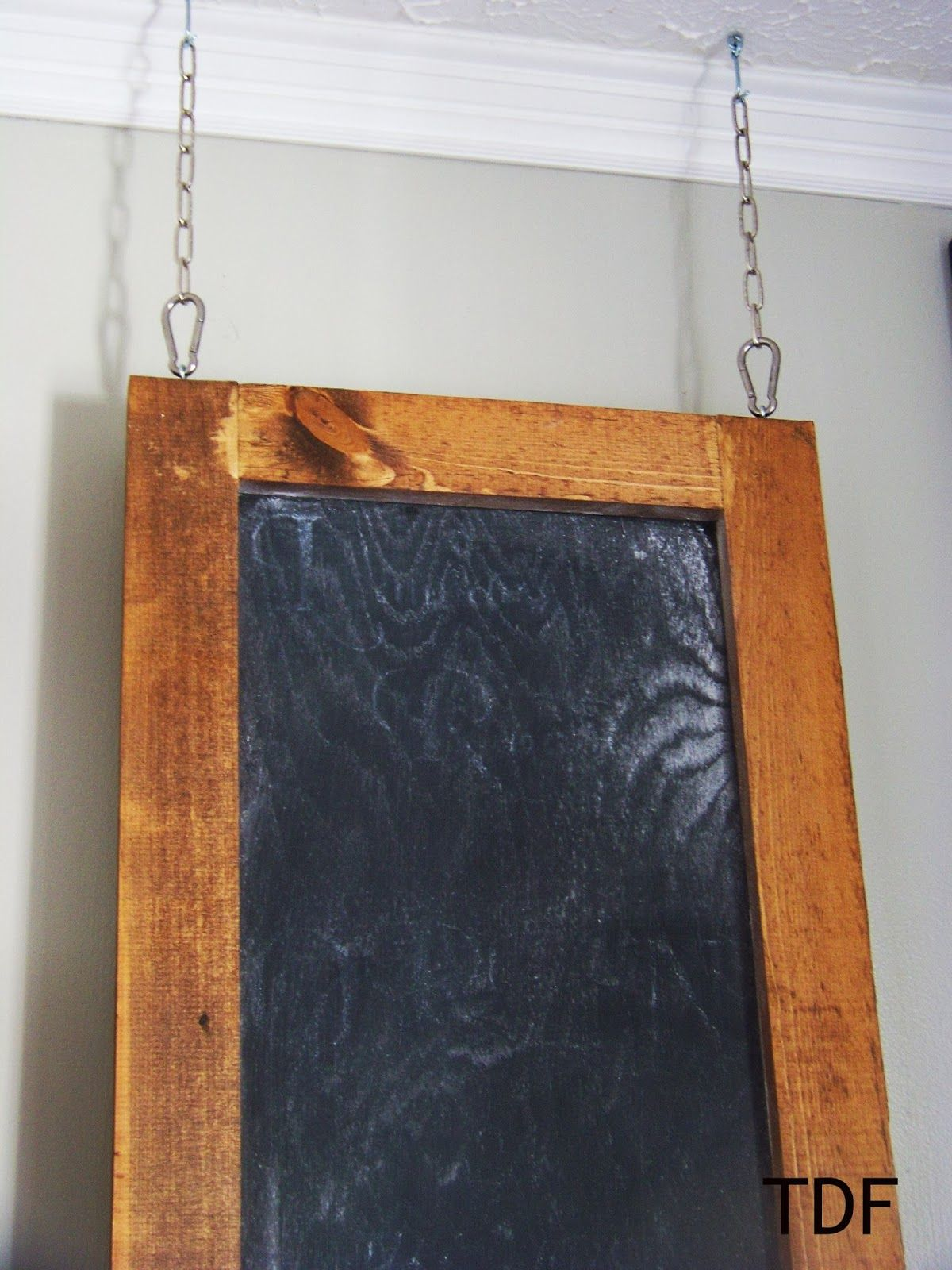 Three Dog Farmhouse: ~ hang a chalkboard from the ceiling to cover a fuse  box. Seriously? How are you going to get to the box in the dark, with the  power ...
