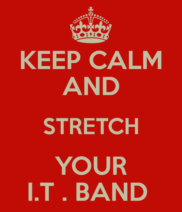 KEEP CALM AND STRETCH YOUR I.T . BAND KEEP CALM AND