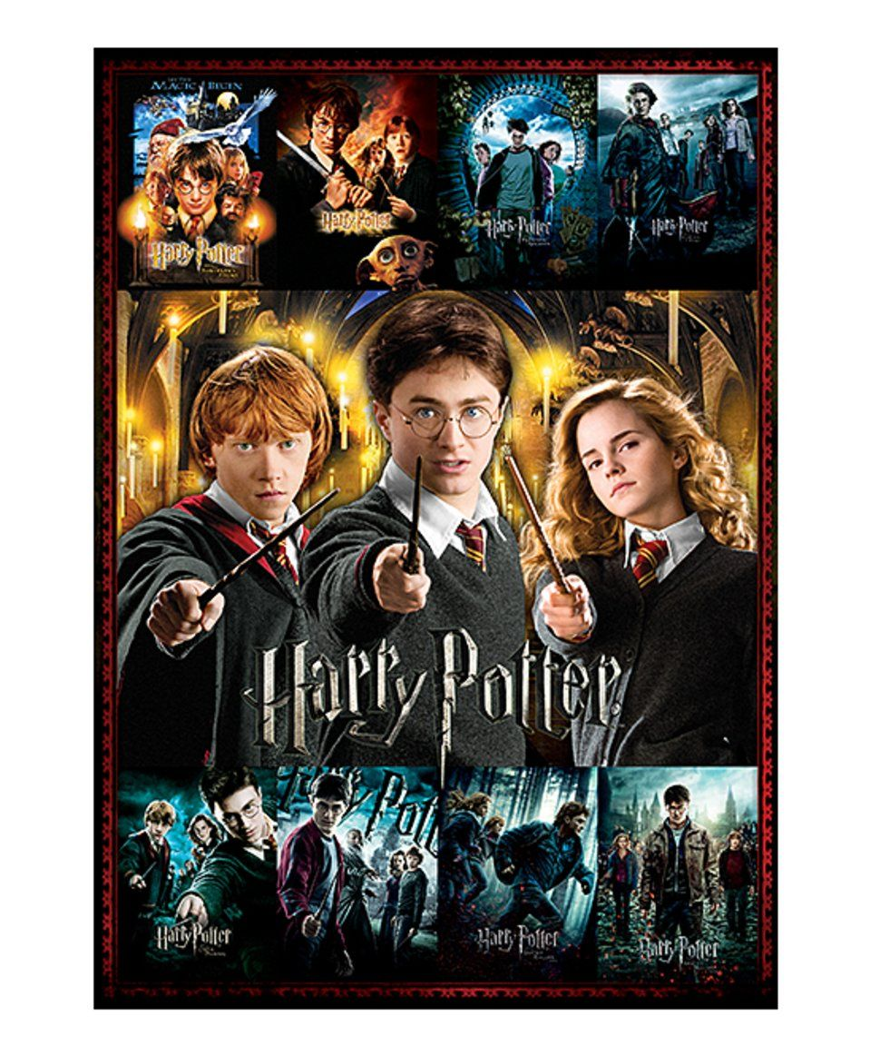 Harry Potter Movie Poster Collage 3,000-Piece Puzzle by Aquarius