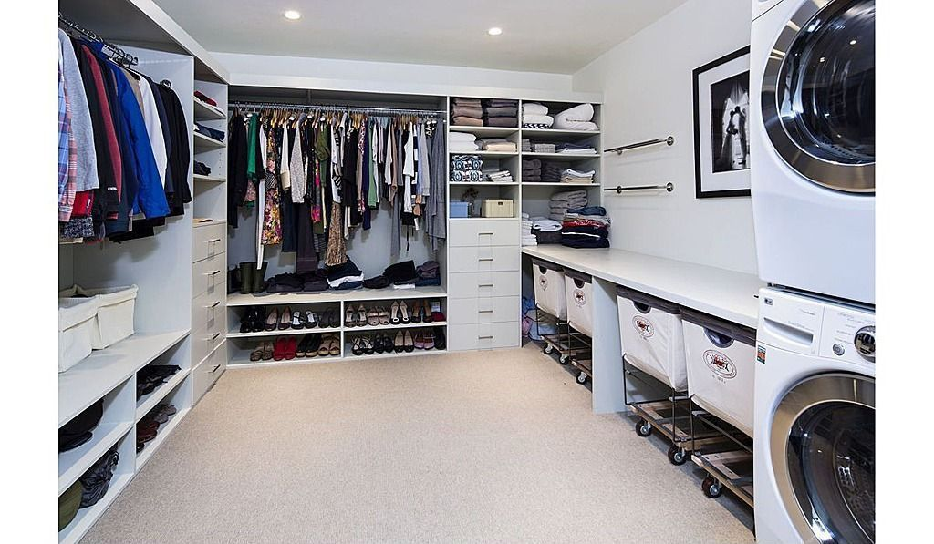 Great Modern Closet Laundry Room Closet Family Closet Closet Layout