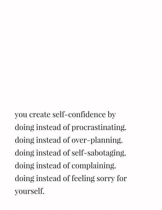 Create Self-Confidence