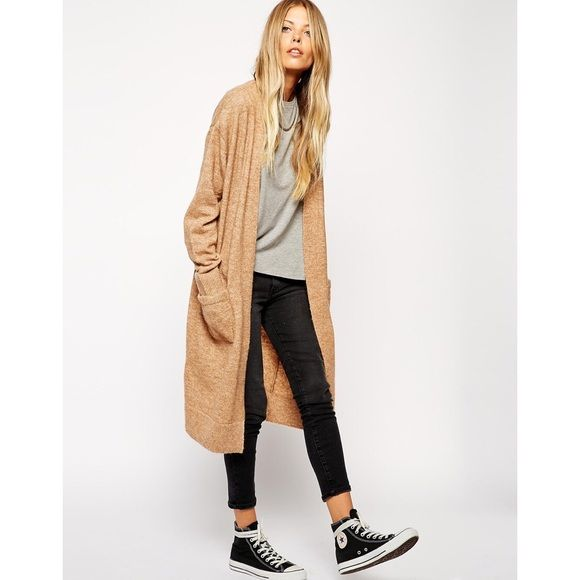 Asos Long Camel Cardigan. Size 0 | Open cardigan, Camels and ...