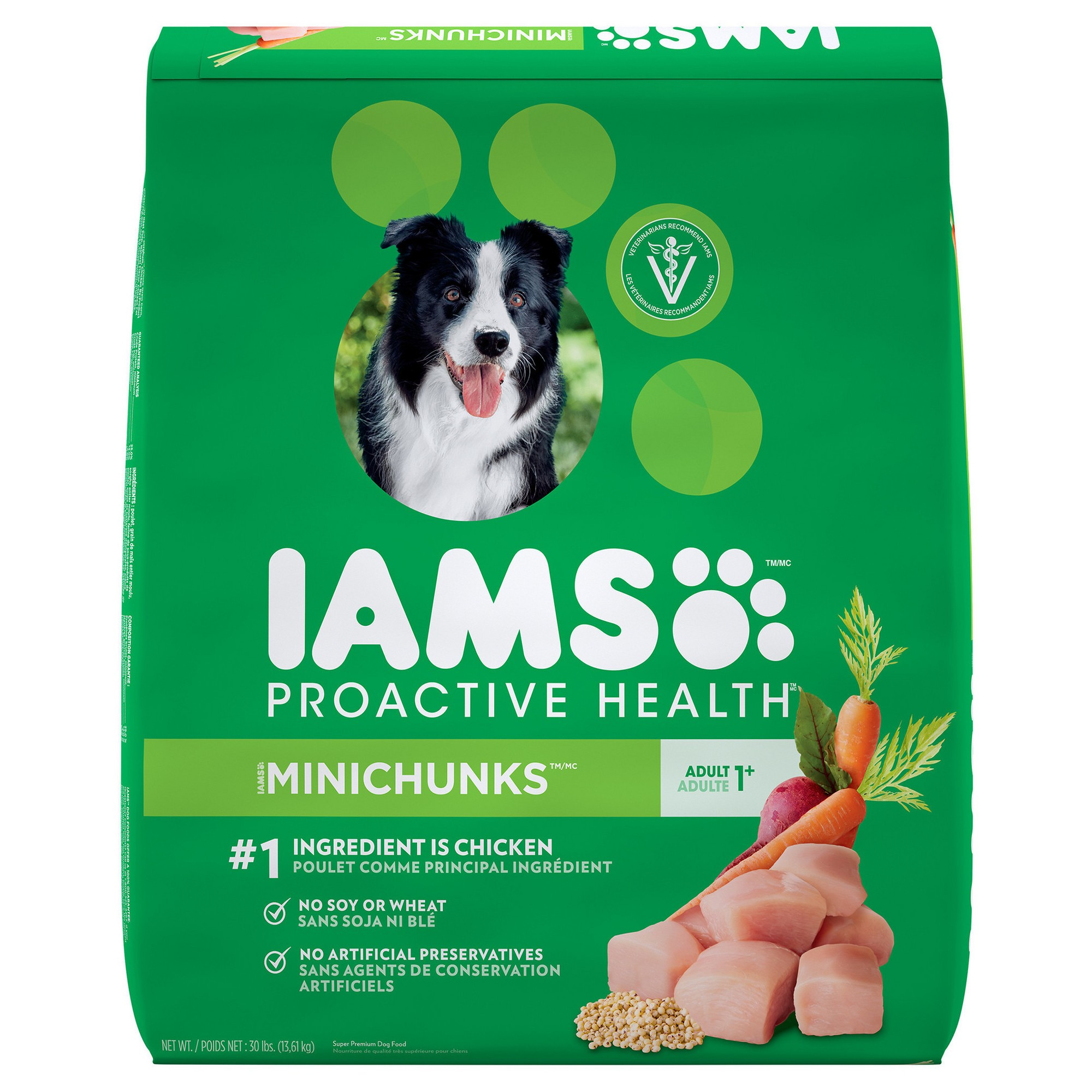 Iams Proactive Health Adult Minichunks Dry Dog Food 30lbs Adult