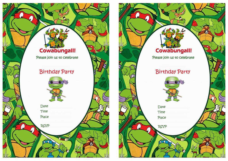 Teenage Mutant Ninja Turtles Birthday Invitations | TMNT-PARTY Ideas ...