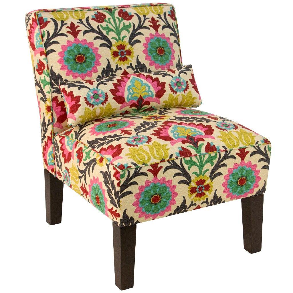 Armless Chair In Santa Maria Desert Flower Skyline 5705sntmrdsrflw Comfortable Accent Chairs Furniture Skyline Furniture Santa maria desert flower chair
