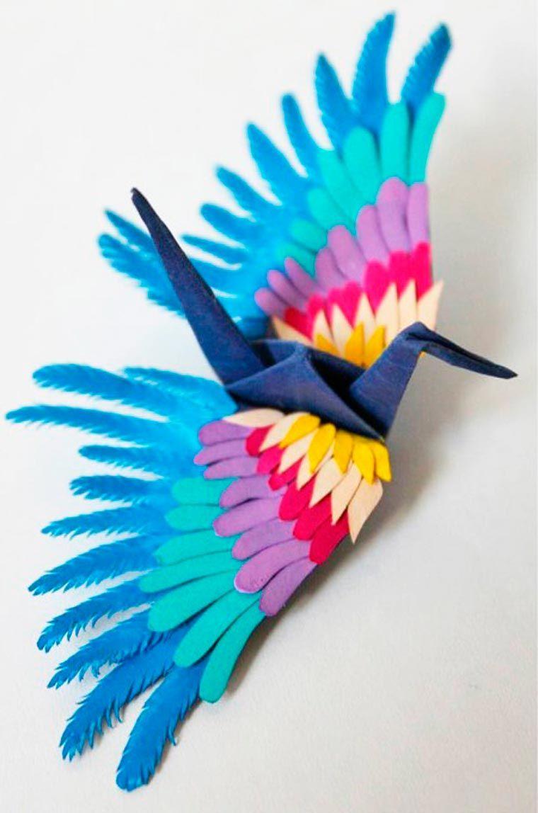 Origami crane crane origami craft ideas - Icarus Mid Air The 1000 Origami Cranes Of Cristian Marianciuc