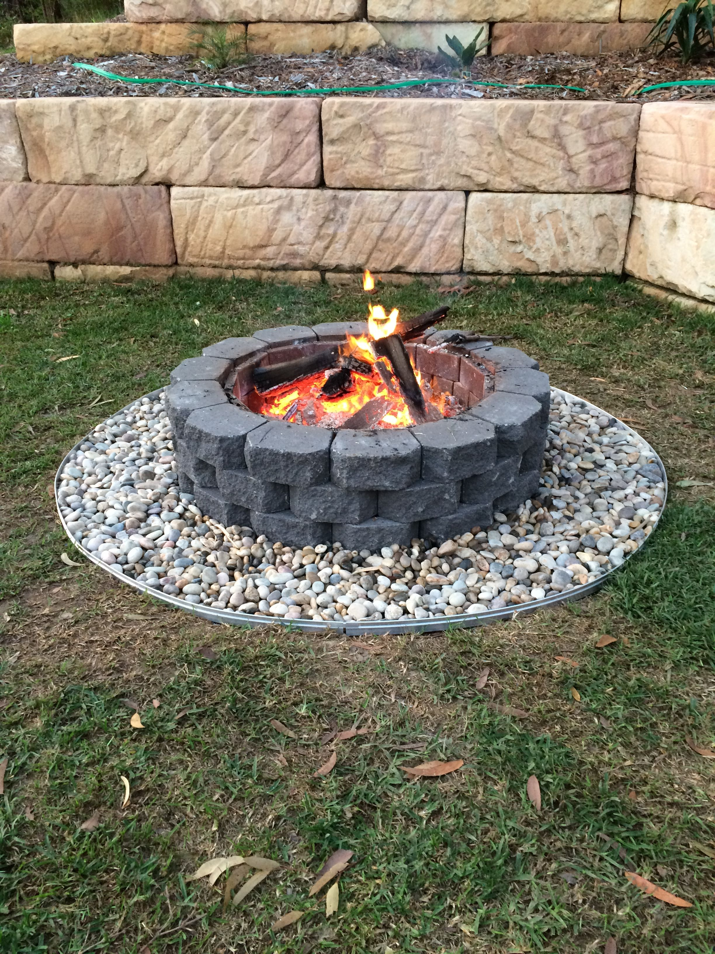 Built this fire pit a couple of weekends back - have it ...