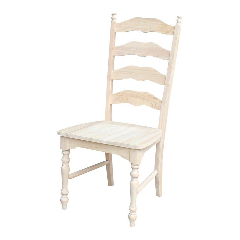 Emilien Solid Wood Dining Chair Ladder Back Dining Chairs Unfinished Dining Chairs Dining Chairs