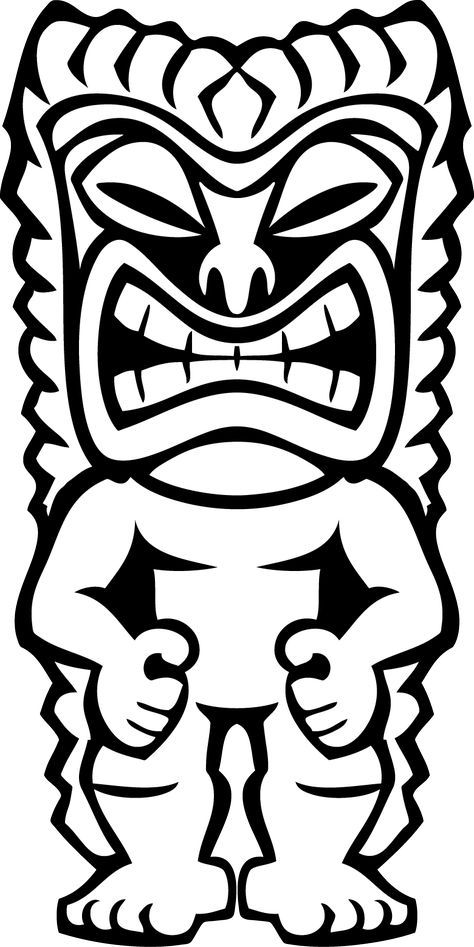 Hawaiian Tiki Clip Art Clipart Panda Free Clipart Images | luau ...