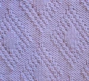 Knitting Stitch Pattern Index : Moss Stitch Border Diamonds Knitting Pattern At the bottom of the page there&...