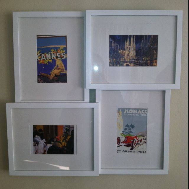 Christmas Tree Shop Frames With Post Cards Collected Around Europe