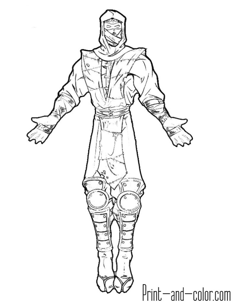 Mortal Kombat coloring page Ermac Bratz