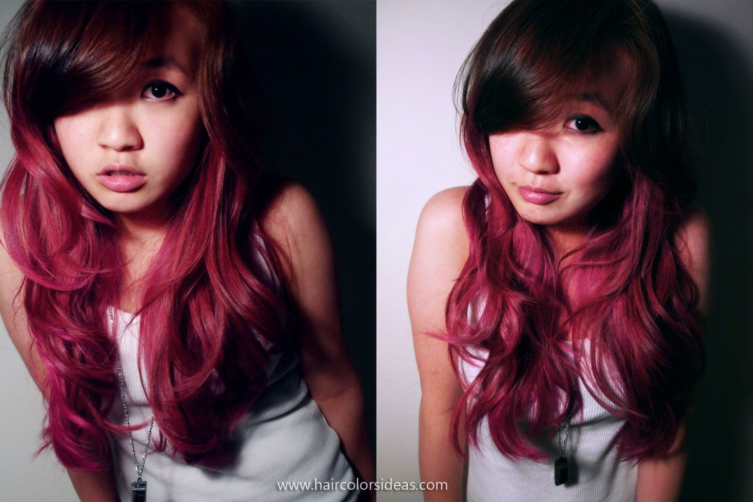 Red Purple Ombre Hair Ombre hair red