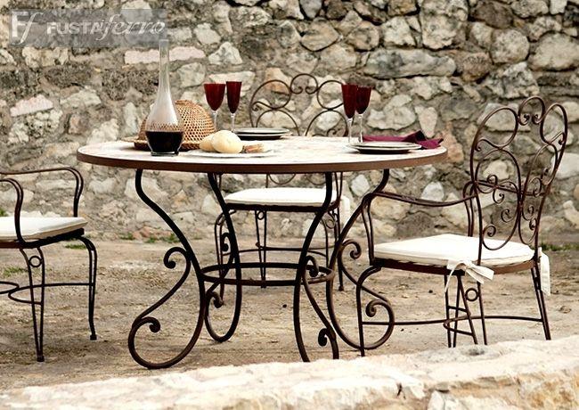 Mesa de mosaico y forja modelo toledo modelos de sillas - Sillas de patio ...