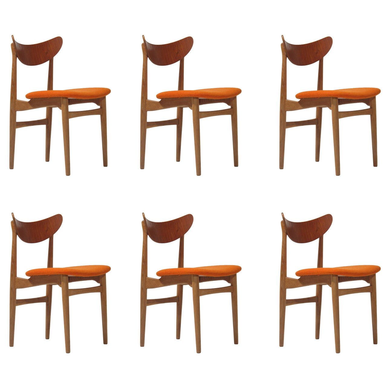 Curved Back Dining Room Chairs Beauteous Danish Curved Back Dining Chairs  Dining Chairs Dining And White Oak Decorating Inspiration