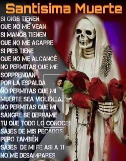 Imagenes De La Santa Muerte Con Frases Chidas 18 Frases Santa