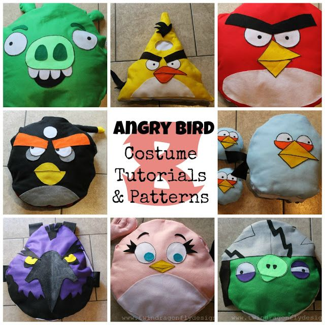 ANGRY BIRDS ~ Costume Tutorial and Patterns Angry birds, Bird and - halloween ideas party