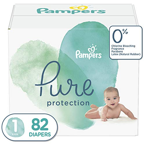 Diapers Newborn Size 1 8 14 Lb 82 Count Pampers Pure Protection Disposable Baby Diapers Shopinzar Com In 2020 Pampers Newborn Diapers Baby Diapers
