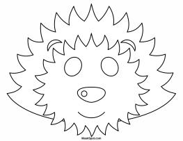 Printable Hedgehog Mask to Color
