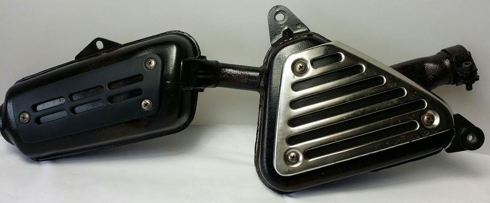 1976 honda xl350 exhaust muffler oem vintage all original