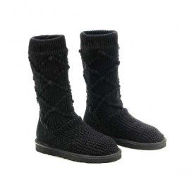 1f4ecf6ea47 UGG Classic Argyle Knit Boots 5879 Black $68.00 www.pintuggsboots ...
