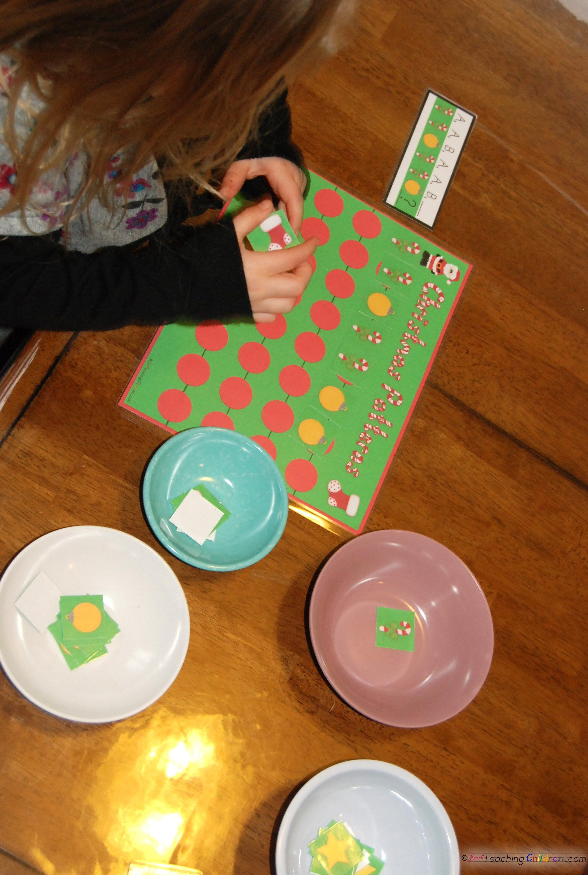 Christmas Math Fun Christmas Patterns For Preschool Or