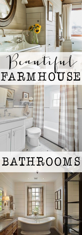 If you love farmhouse, shiplap, vintage, farm sinks, tile, texture ...