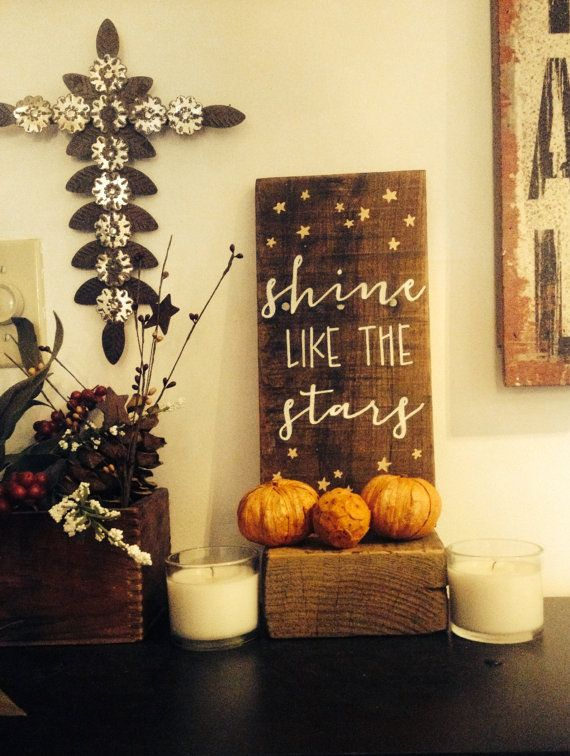 Shine like the stars sign Nursery wood sign rustic nursery art ...