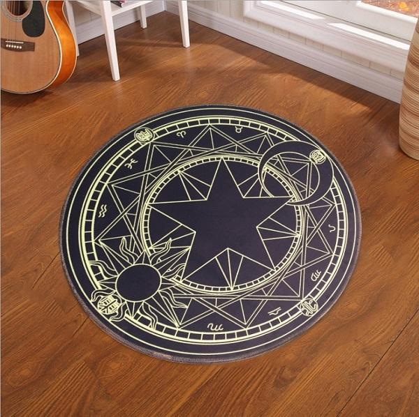 Cardcaptor Sakura Round Rug Decor Magical Decor Witch Decor