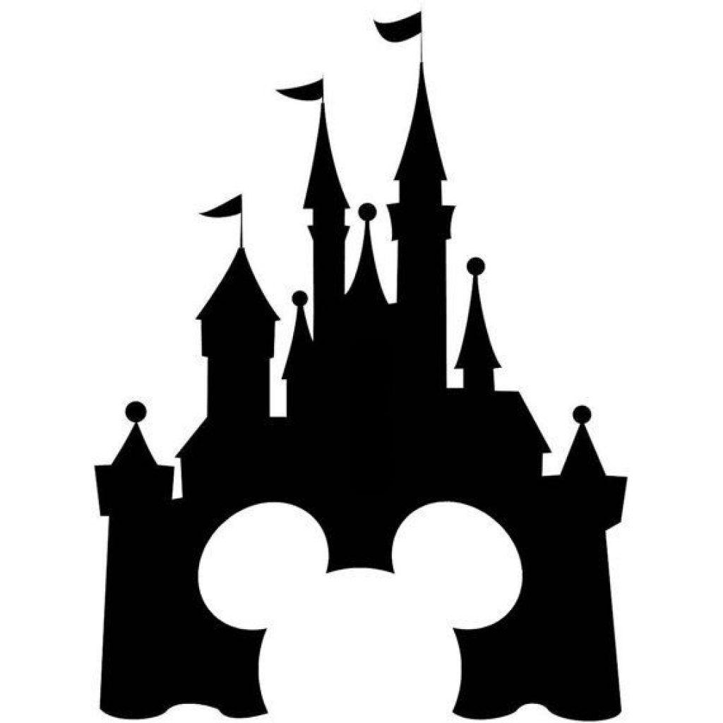 disney castle vector cinderella castle silhouette vector ...