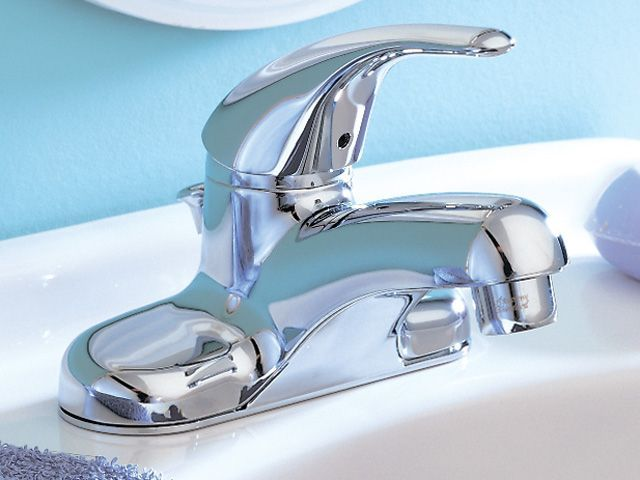 Cadet Centerset (4-inch) 1-Handle Low Arc Bathroom Faucet in Chrome ...