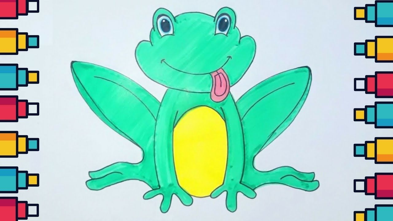 How to Draw Cute Frog for Kids and Beginners #frog # ...