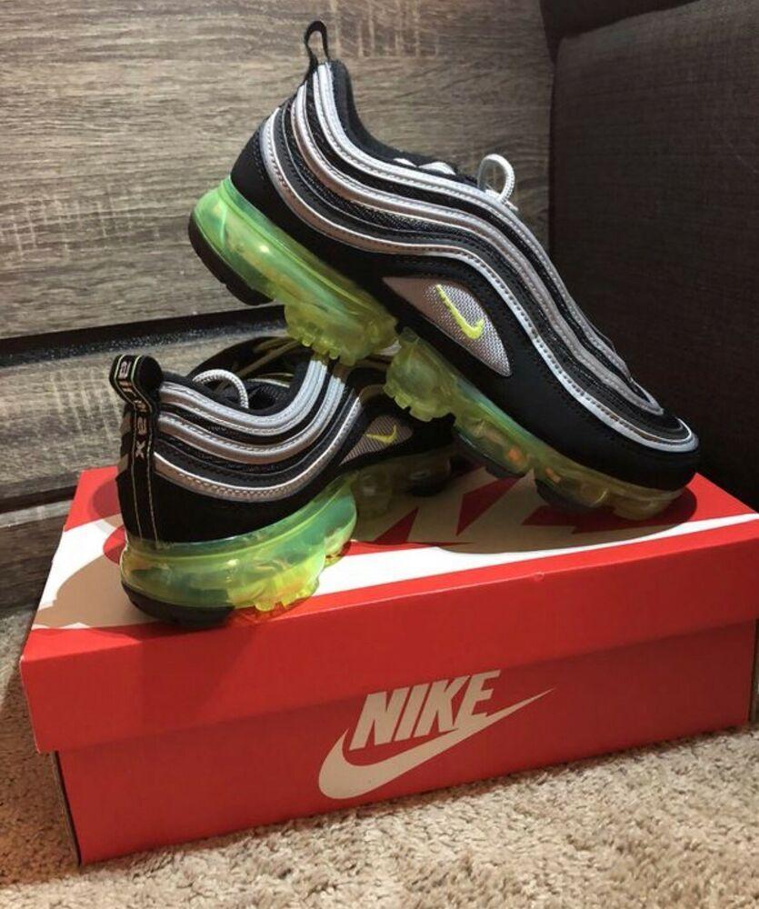 best website d6687 19b02 eBay link) Nike Air Vapormax 97 Japan black neon green ...