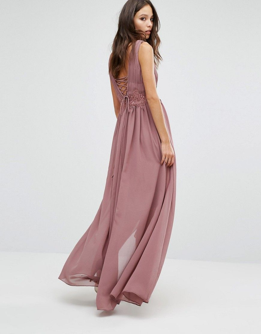 y.a.s+andra+lace+up+back+detail+dress | kleid standesamt