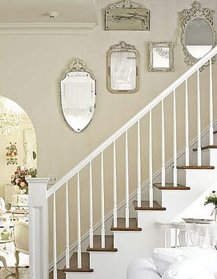 Best White And Wood Staircase With Beige Walls And Antique 640 x 480