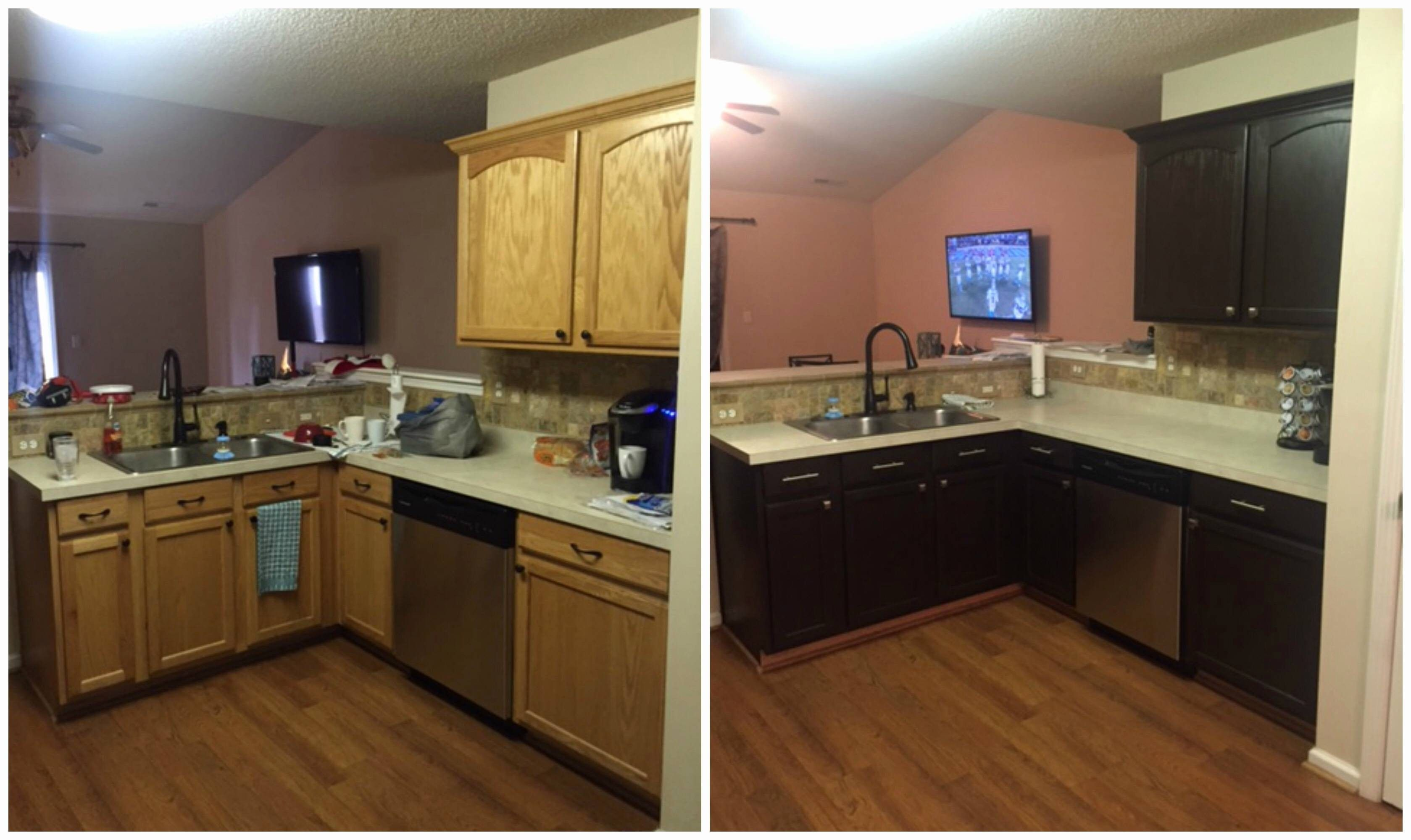 Inspirational Painting Kitchen Cabinets Before And After The Most Amazing In Addition To Stunning Painting Kitchen Cabinets Before And After With Regard To E